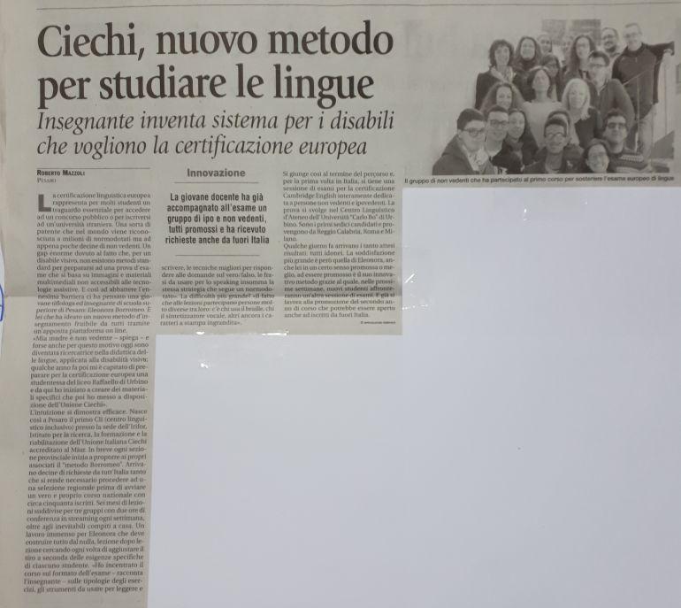 Ciechi, nuovo metodo per studiare le lingue - Insegnate inventa sistema per i disabili che vogliono la certificazione europea