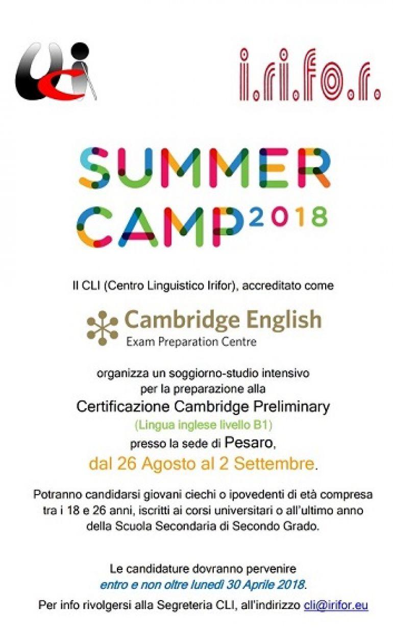 SUMMER ENGLISH CAMP 2018